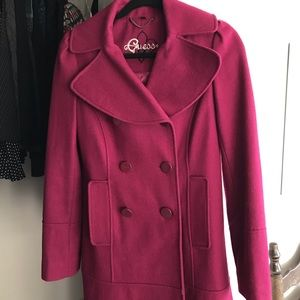 Guess Wool Double-breasted Coat Small